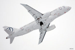 First SSJ100 Test Flight with Saberlets Performed Successfully