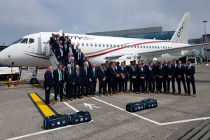CityJet SSJ100 carries the Ireland football team to Euro 2016