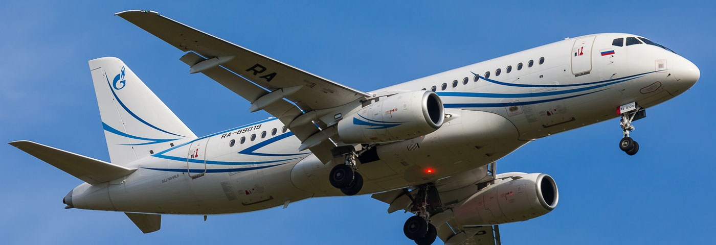 Sukhoi Civil Aircraft Completed Contract with Gazpromavia for SSJ100 Delivery